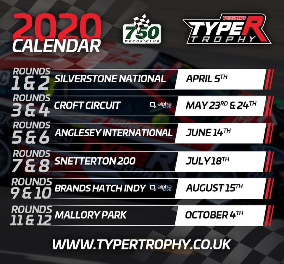 2020 Type R Trophy Calendar